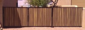 Classic RV gate and extra side panel for privacy