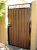 Decorative straight top pedestrian gate