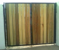 8' tall RV gate with poplar wood